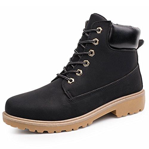 Sun Lorence Men Casual Martin Platform Boots Military Cargo Short Boots Black krm1rIg