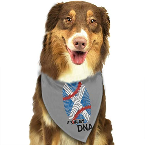 - CWWJQ88 Scotland Flag Baseball in My DNA Pet Dog Bandana Triangle Bibs Scarf - Easy to Tie On Your Dogs & Cats Pets Animals - Comfortable and Stylish Pet Accessories