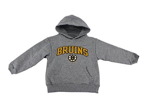 Outer Stuff Boy's NHL Boston Bruins Hockey Hoodie Grey