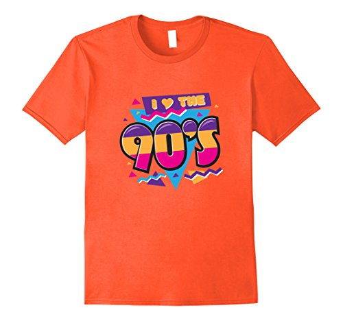 90s Party Costume Ideas Male (Mens I Love The 90s Nineties Retro Clothing For Men Women Shirt Large Orange)
