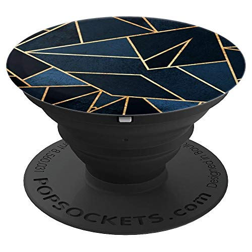 Chill Cool Geometric Pop Sockets Navy Blue - PopSockets Grip and Stand for Phones and Tablets