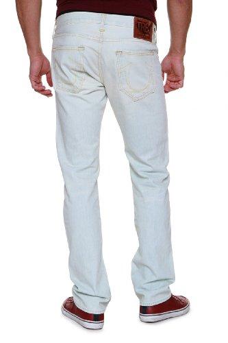 True Religion Men's Geno Phoenix Slim Fit Jean in White, White, 33