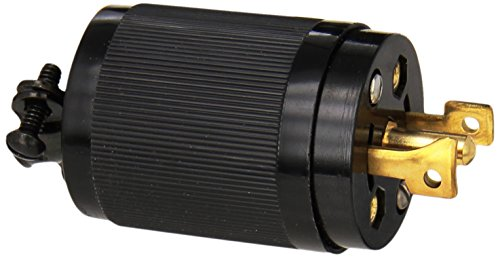 Hubbell HBL7485 Locking Plug, Midget, 15 amp, 125/250V, ()