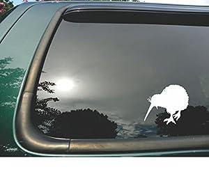 Amazoncom Kiwi Bird Silhouette Die Cut White Vinyl Window Decal - Bird window stickers amazon