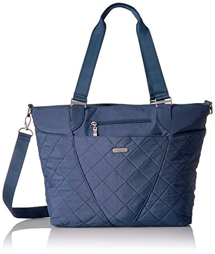 Baggallini Quilted Avenue Tote with RFID, Slate ()