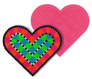 Large Heart Pegboard for Perler Fuse Beads