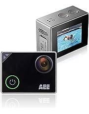 AEE Cámara de acción Deportiva Silver 4K WiFi, Ultra HD de 133 pies, Resistente al Agua, con Pantalla táctil, resolución de Imagen de 16 MP, Zoom Digital 4X con Lente Gran Angular de Grado