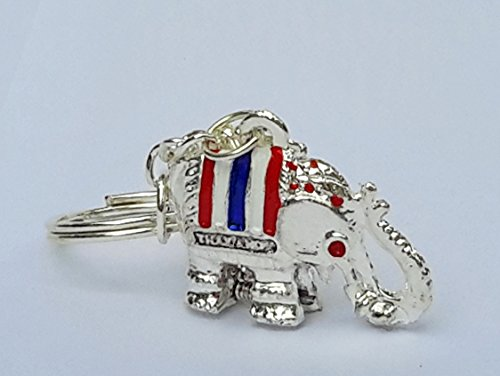 Super Lucky Elephant Key Chain Secret Hidden Pill Box Locket Silver Color