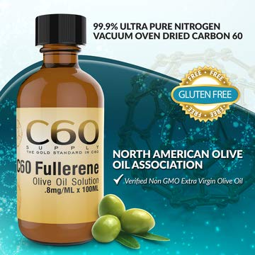 C60 in Olive Oil, Carbon 60 Supplement in Amber Glass Lab Bottles, C 60 Olive Oil, Organic 100ml 99.9% Ultra Pure FULLERENE C60 Supplement. Solvent Free BUCKMINSTERFULLERENE Carbon 60 Olive Oil by C60 Supply (Image #5)
