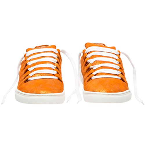 Mode TD004 Marche Chaussures Dames TEDISH Classic Confortable Loisirs Femme Baskets Outdoor Lacets Classic Orange Orabelle Cuir Plat Orange de xOAw7AqY
