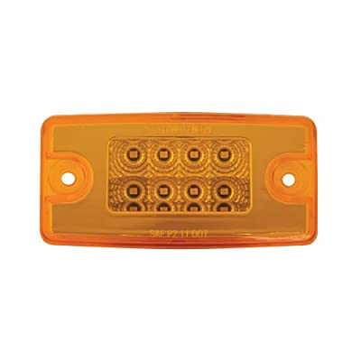 Grand General 76320 Amber Rectangular Spyder 8-LED Visor/Cab Marker Sealed Light for Freightliner Century/Columbia: Automotive