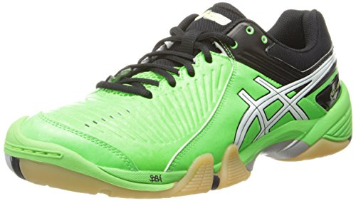 Asics Men's Gel-Domain 3 Volleyball Shoe,Neon Green/White/Black,13 M US