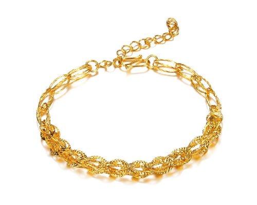 14k Antique Pocket Watch - KATGI Fashion 18K Rose Gold Plated Multi Layer Chain Charm Bracelet