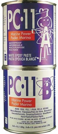 Epoxy Adhesive, Can, 4 lb, Off-White, 12 hr.