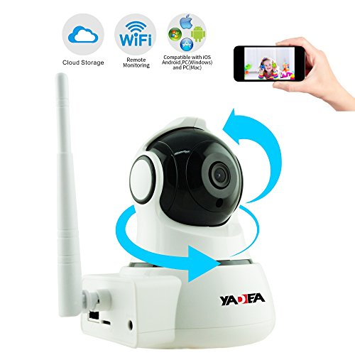 Digi Camera (Home IP Camera, YADEA 720P HD Wireless IP Security Surveillance WIFI Camera with Night Vision Motion Detection Alert for Baby Pet Nanny-Cloud Storage Service Available)