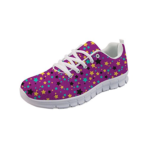 Showudesigns Casual Sneakers Women Sport Shoes Running Walking Star Pattern Color 6 TOsNweZ