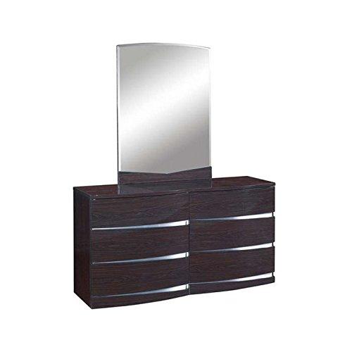 Accent Oval Chest (Global Furniture Aria/Aurora Collection MDF/Wood Veneer Dresser, Wenge)