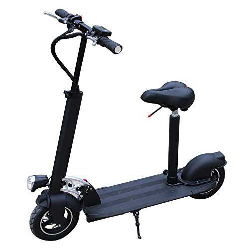 AGDA®Safe Premium and Reliable Electric Scooter With Suitable Seat Black