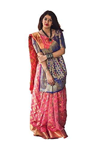 itsindiancrafty Indian Sarees for Women Wedding Designer Party Wear Traditional PeachSari. by itsindiancrafty
