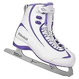 ice skates women - Riedell Skates - 625 Soar - Women's Soft Beginner Figure Ice Skates | White & Violet | Size 10