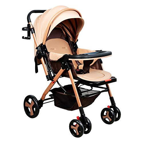 HunyHuny Stylish Baby Stroller Pram with Multi Function - Khaki