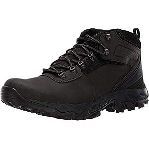 Columbia Men's Newton Ridge Plus II Waterproof Hiking Boot-Wide, Black, Black, 12 Regular US