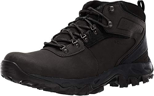 Columbia Men's Newton Ridge Plus II Waterproof Hiking Boot-Wide, Black, Black, 13 Regular US