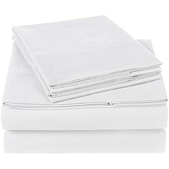 Pinzon 300 Thread Count Organic Cotton Sheet Set - King, White