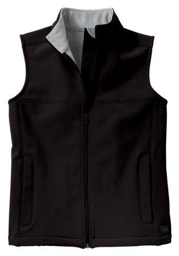 Charles River Apparel Women's Soft Shell Vest, Black/Vapor Grey, Large