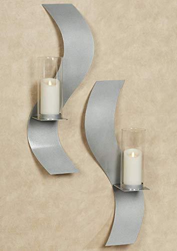 Rhythmic Wall Sconces Silver Set of Two