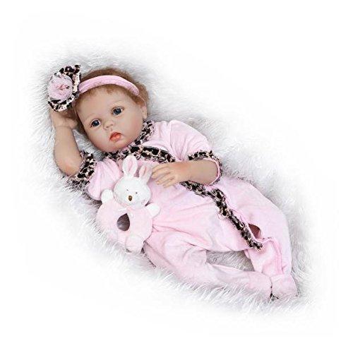 icradleファッション22 inch55 cmシリコンビニールベビー人形Rebornハンドメイド子供用趣味Dolls Toys for Children誕生日プレゼント人気Plamates   B07DHJTKF1