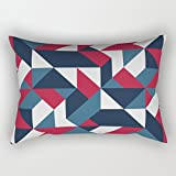 elegancebeauty geometry pillow shams 20 x 30 inches / 50 by 75 cm for father,bench,play room,car seat,office,bedding with 2 sides