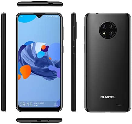 OUKITEL C19 6.49 '' HD + 2GB 16GBスマートフォンMTK6737 Quad Core Android 10.0携帯電話4000mAh Type-C (ブラック)