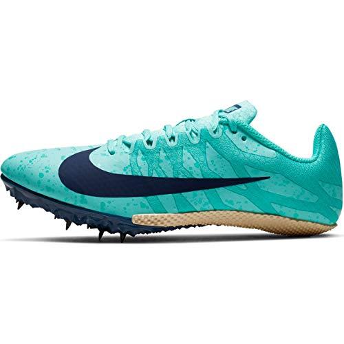 a26ef340fd81 Nike Women's Zoom Rival S 9 Track Spike Aurora Green/Blue Void/Hyper Jade  Size 9 M US