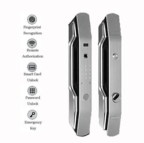 5 in 1 Touchscreen Fingerprint Smart Lock, Electronic Keyless Entry Door Mortise Lock + Free Handle Design,B