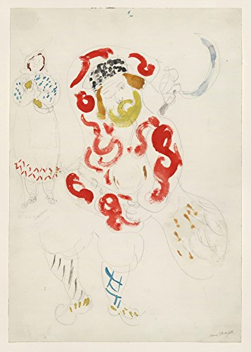 The Museum Outlet - Marc Chagall - Costumes for Peasant, costume design for Aleko, Stretched Canvas Gallery Wrapped. 58x78