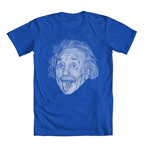 GEEK TEEZ Albert Einstein Youth Boys' T-Shirt Blue Large