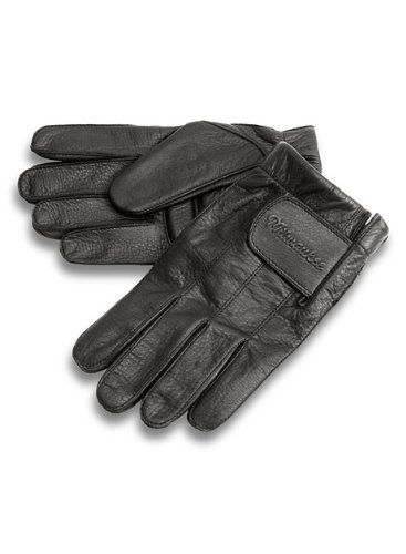 Milwaukee Motorcycle Clothing Company MMCC Riding Gloves with Gel Palm (Black, XX-Large)