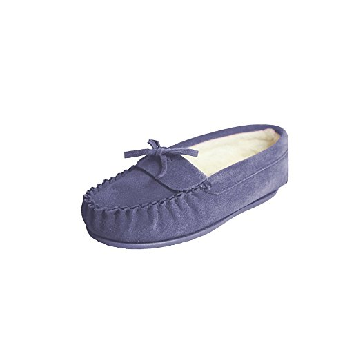 En Bleu Eastern Edie Mocassins Marine Femme Counties Leather Avec Doublure Laine wBznYBr1W