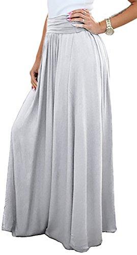 ModaFresca - Falda - Maxi - para mujer gris