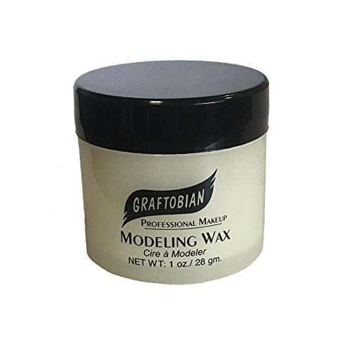 Graftobian Modeling Wax - Bone (1 oz) (Halloween Makeup Wax)