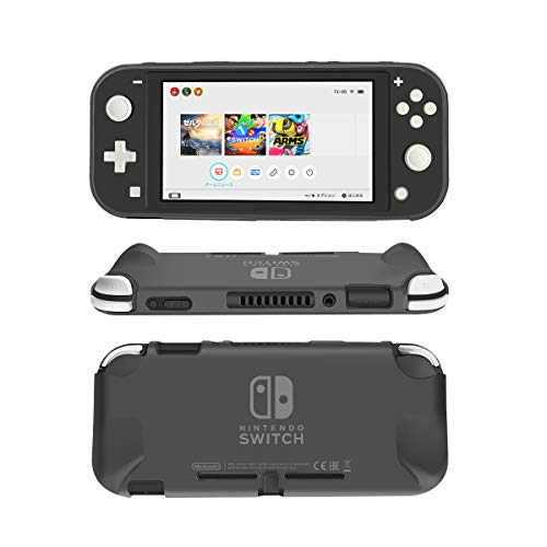 Protective Case Cover for Nintendo Switch Lite, NTCON Soft TPU Grip Case Anti-Scratch Shock-Absorption Cover Case for Nintendo Switch Lite 2019 - Gray