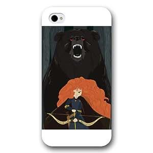 Customized White Frosted Disney Brave Princess Merida iPhone 4 4s case