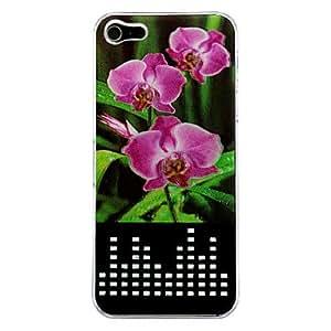ZXM- Sentido nuevo 3d llevó la luz de destello color de la flor cambia de piel cubierta de la caja para el iphone 5/5s