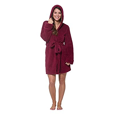 WallFlower Womens Plush Warm and Cozy Printed Hooded Robe