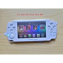 4.3'' 8GB Kids Student handheld game console with ultra-thin with touch-screen MP4 MP5 player White Color