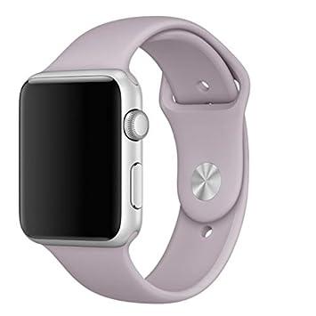 e1d64bac3b8 Pulseira Sport em Silicone para relógio Apple Watch 42mm Series 3 2 1  (Lavanda 42mm