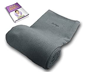 "Non-slip Yoga Towel for Hot Yoga. Absorbent Microfiber for Mats up to 24"" X 72"" with Bonus Woven Carry Bag"