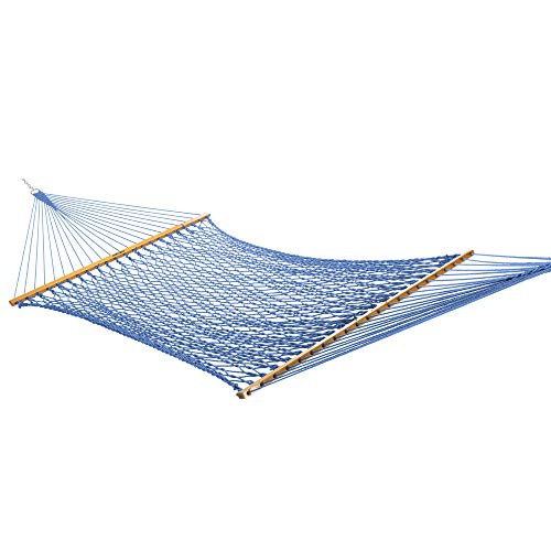 - Original Pawleys Island 13DCCB Large Duracord Rope Hammock, Coastal Blue