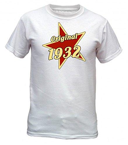 Birthday Shirt - Original 1932 - Lustiges T-Shirt als Geschenk zum Geburtstag - Weiss